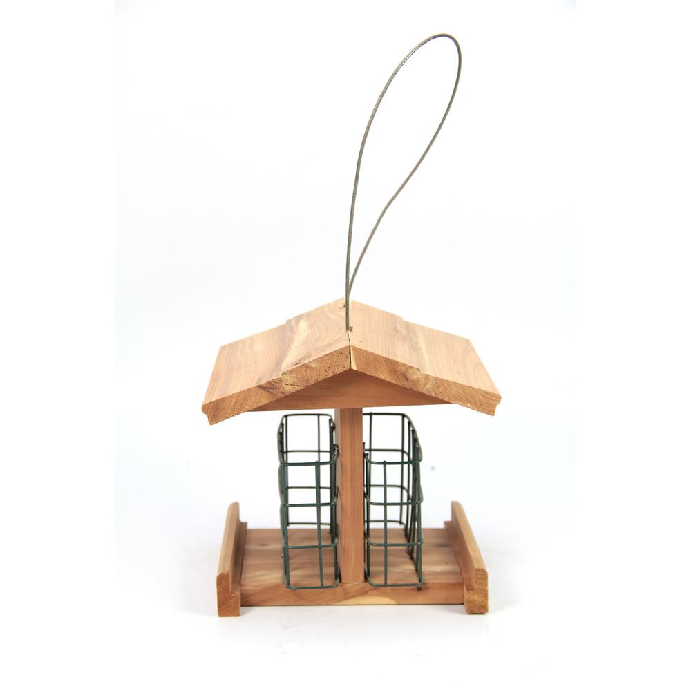Worth Garden 7 in. Red Cedar Wood Double Suet Small ...