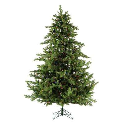 7.5 ft. Pre-lit LED Foxtail Pine Artificial Christmas Tree with 900 Multi-Color String Lights