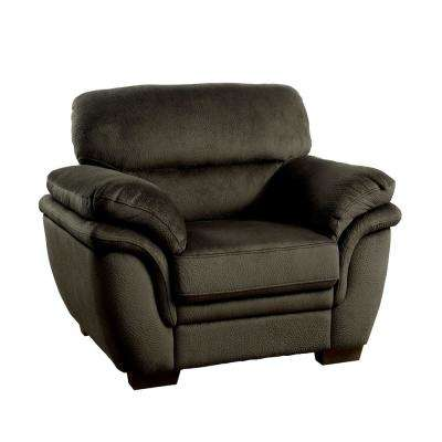 Jaya Dark Brown Transitional Style Living Room Chair