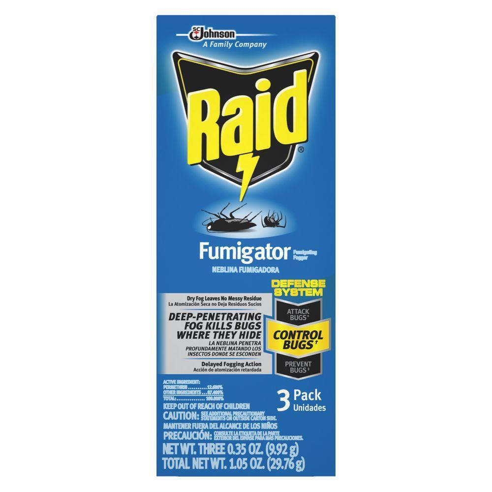 Raid Fumigating Foggers 3 Pack 61528 The Home Depot
