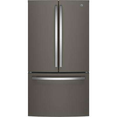 27 cu. ft. French Door Refrigerator in Slate, Fingerprint Resistant and  ENERGY STAR