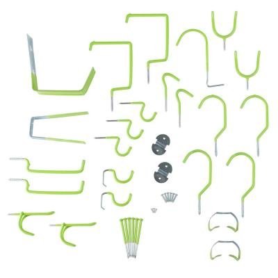 1.75 in. L Lime Green Home Garage Wall Kit (30-Pack)