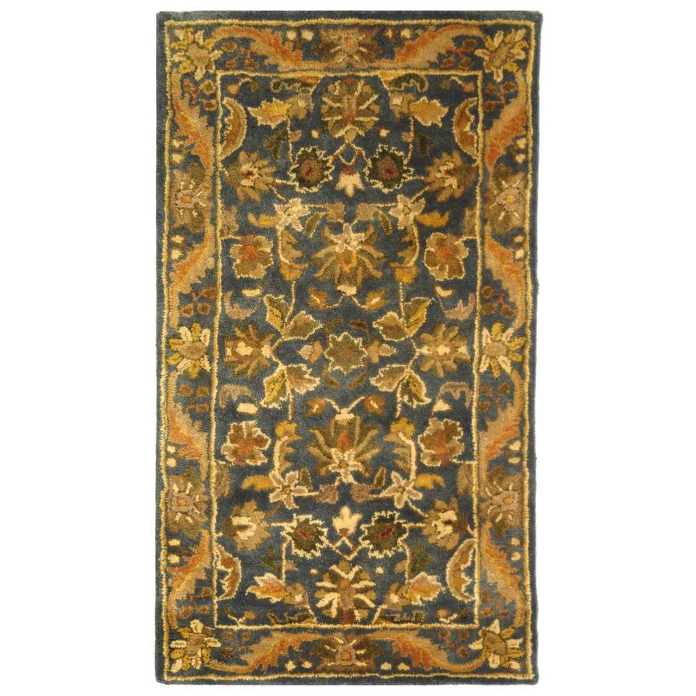 Safavieh Antiquity Blue Gold 2 Ft X 3 Ft Area Rug At52c