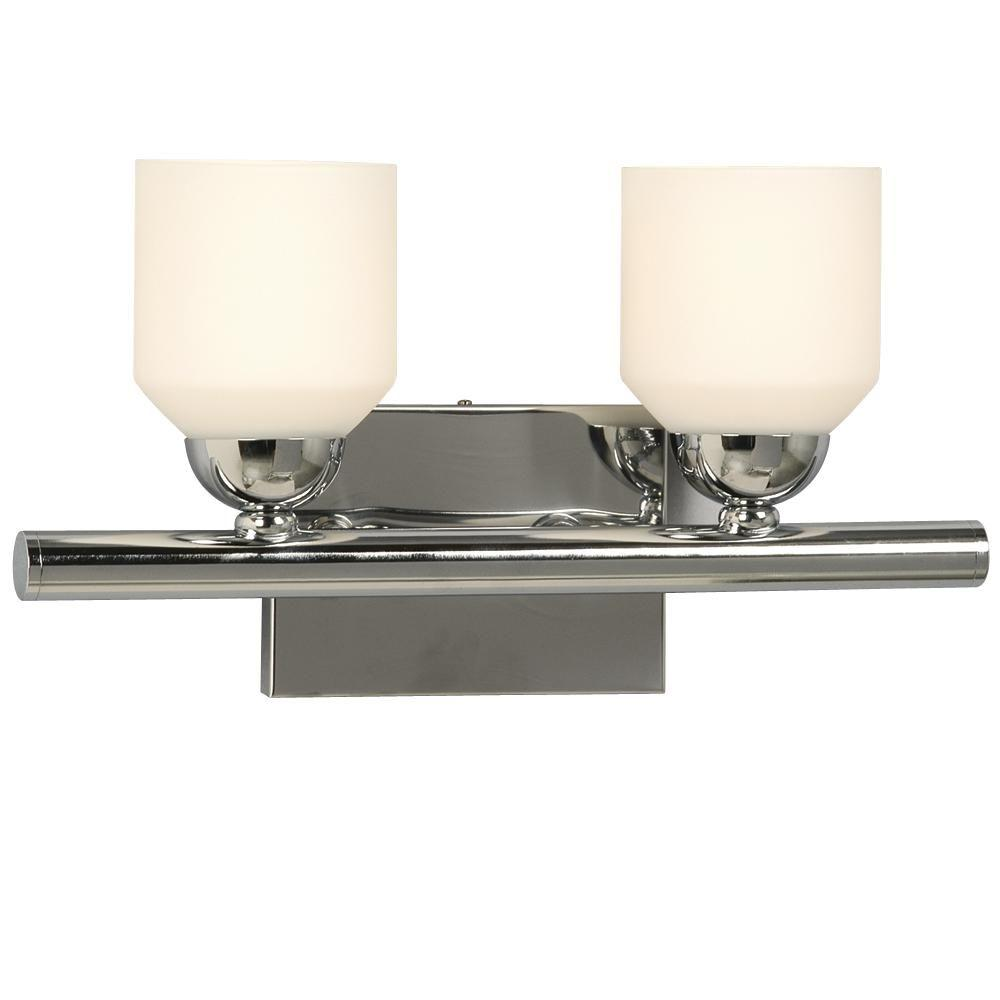 Negron 2-Light Polished Chrome Incandescent Bath Vanity Light