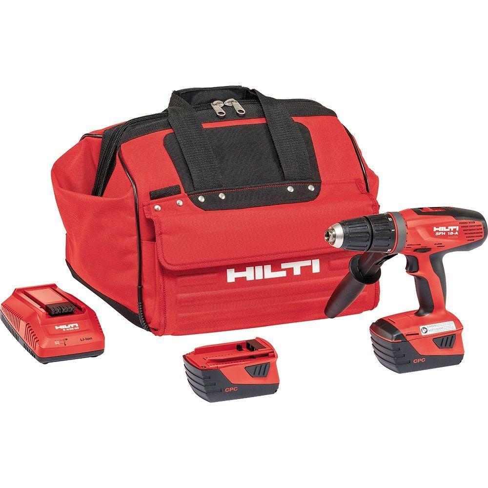 hammer drill home depot. hilti sfh 18-volt lithium-ion cordless hammer drill driver home depot u