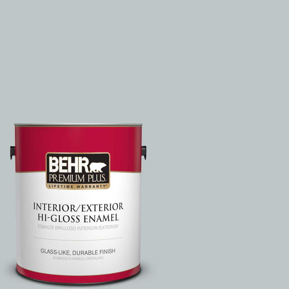 1 gal. #PPU12-10 Misty Morn Hi-Gloss Enamel Interior/Exterior Paint