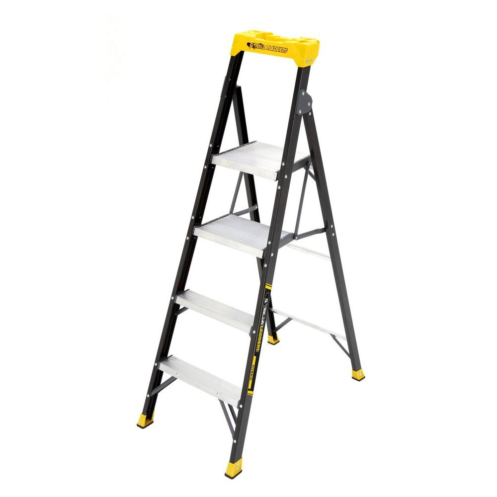 Gorilla Ladders 5 5 Ft Fiberglass Hybrid Ladder With 250
