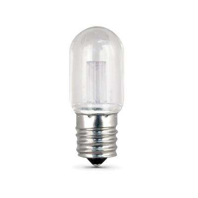15W Equivalent Warm White (3000K) T7 Clear Appliance LED Intermediate Base Light Bulb (Case of 12)