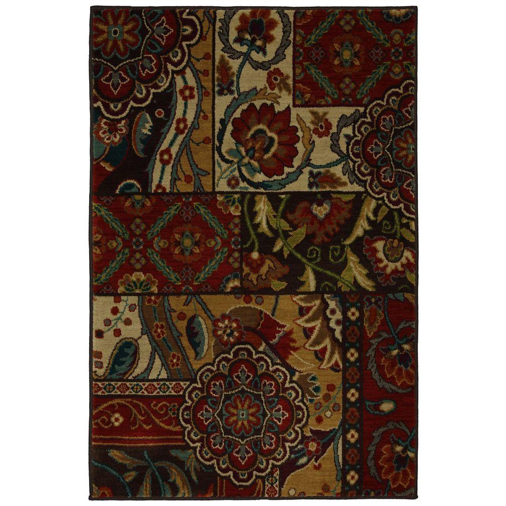 Home Decorators Collection Keswick Tomatillo Red 3 ft. 4 in. x 5 ft. Area Rug