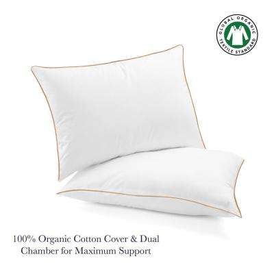 A1HC Regal Chamber Duck Down Organic 20 in. x 30 in. Cotton Pillow