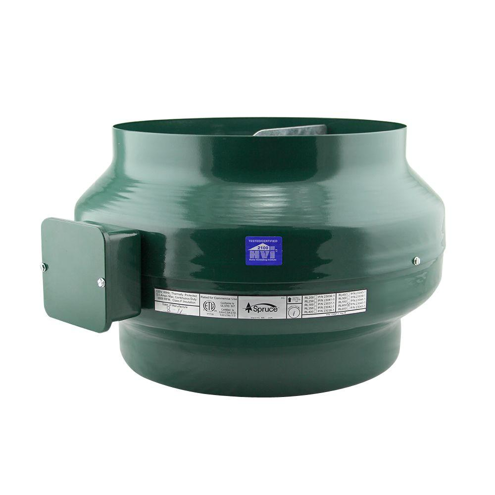 Spruce 670 CFM Green Powered 12 in. Inline Duct Fan