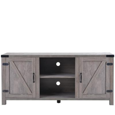 30 in. Walnut and Brown Wood TV Stand Fits TVs Up to 60 in. with No Additional Features