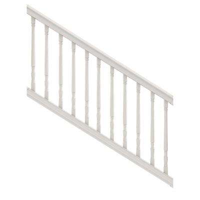 Premier Series 6 ft. x 36 in. White PolyComposite Stair Rail Kit with Colonial Balusters