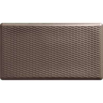 Basketweave Brown 20 In X 36 Comfort Mat