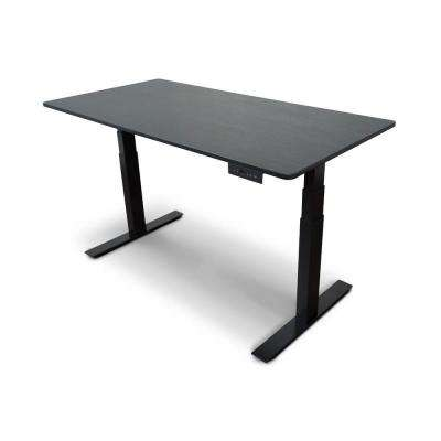 Black Desk with Wheels