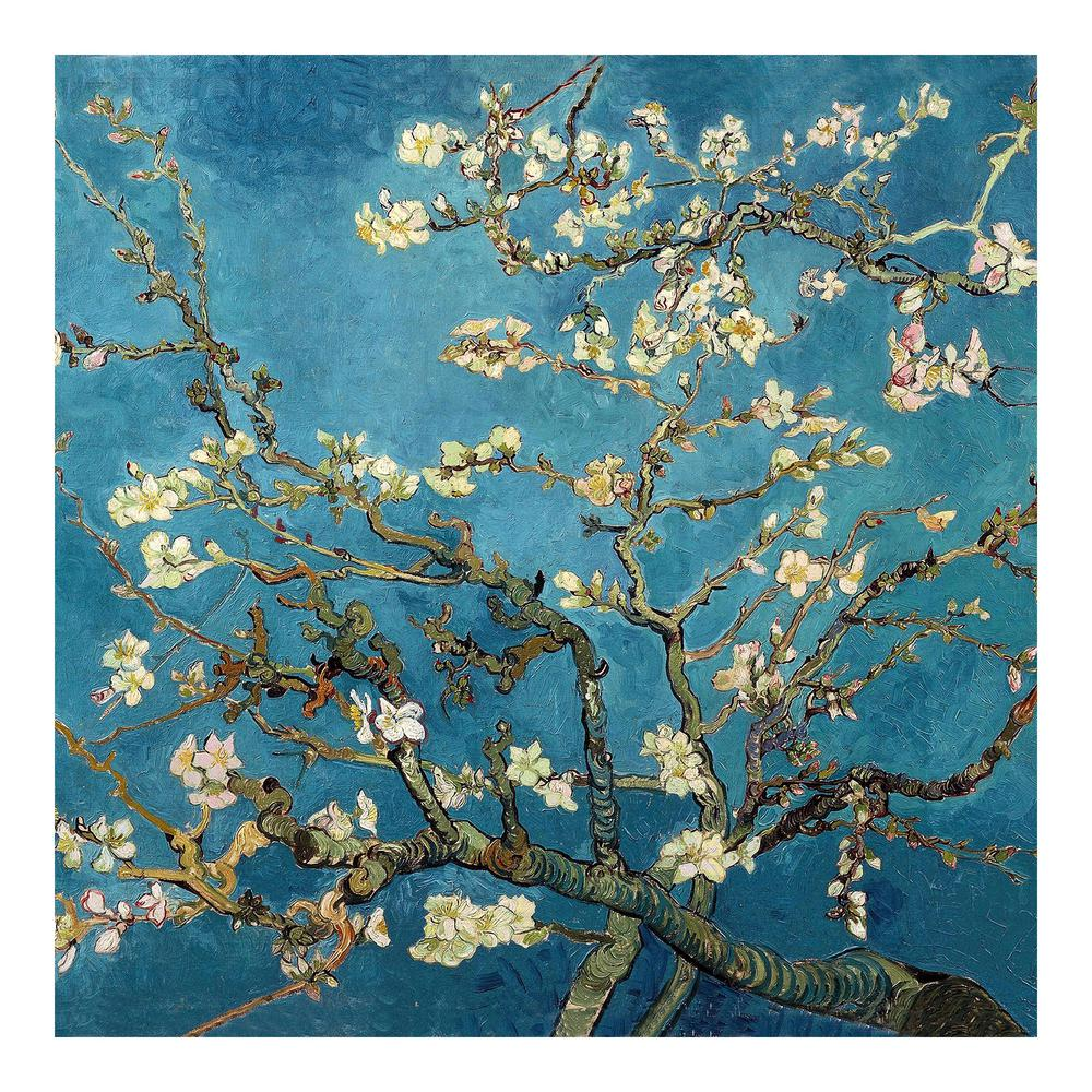 Oriental Furniture 27 5 In X 27 5 In Quot Almond Blossoms By