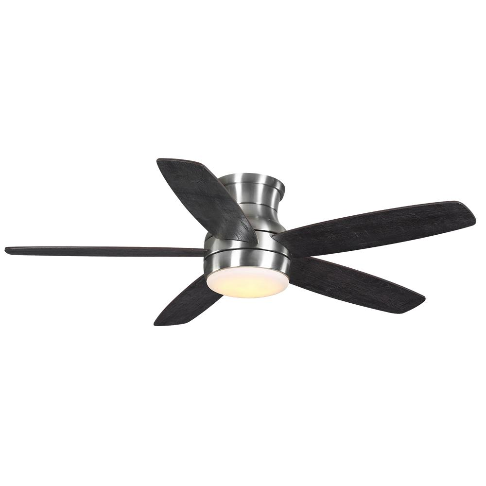 Home Decorators Collection Ashby Park 52 in. White Color Changing Integrated LED Brushed Nickel Ceiling Fan with Light Kit and Remote Control