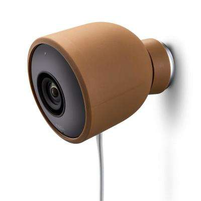 Colorful Silicone Skins for Nest Cam Outdoor Security Camera in Brown