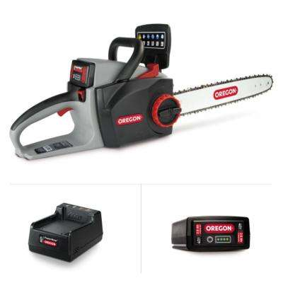 PowerNow 16 in. 40-Volt MAX CS300-E6 Chainsaw Kit with 2.4 Ah Battery Pack