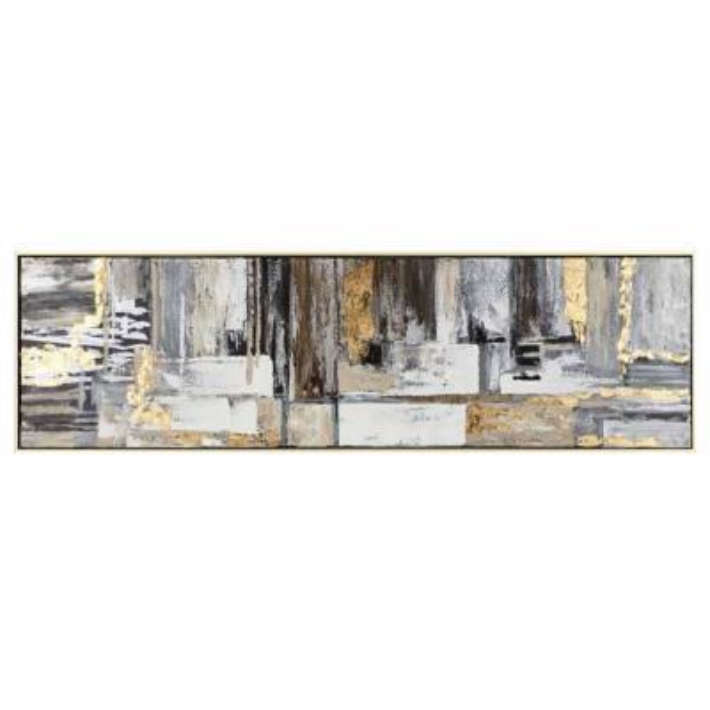 Yellow Wall Art Deacon Framed Oil Painting Framed