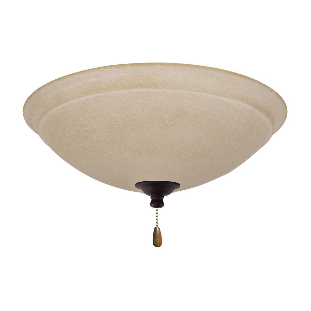 Ashton Amber Mist LED Array Venetian Bronze Ceiling Fan Light Kit