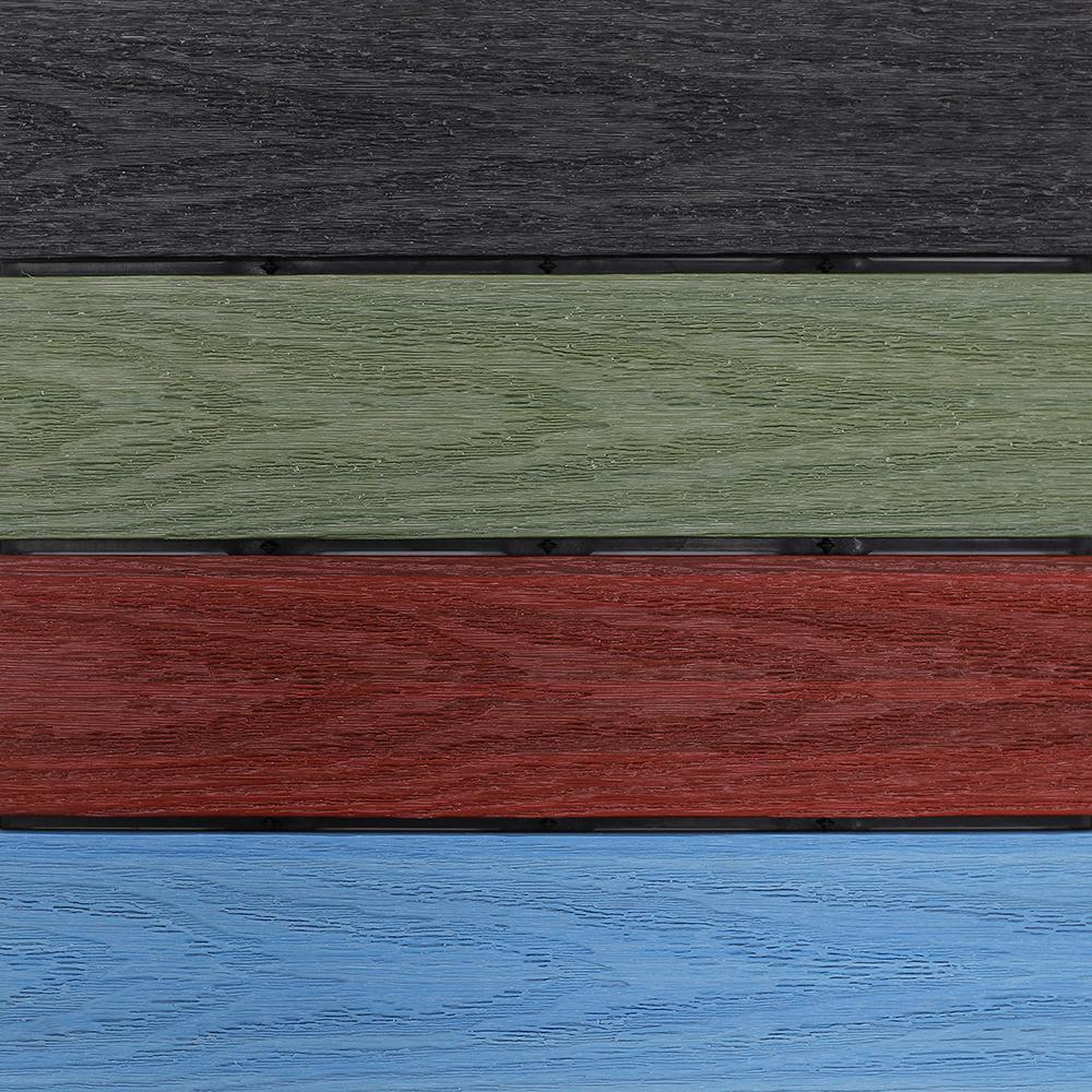 NewTechWood US-QD-ZX-36-AT Ultra Shield Natural 3 x 1 Quick Outdoor Composite Deck Tiles in Roman Antique 15 sq. ft. per Box