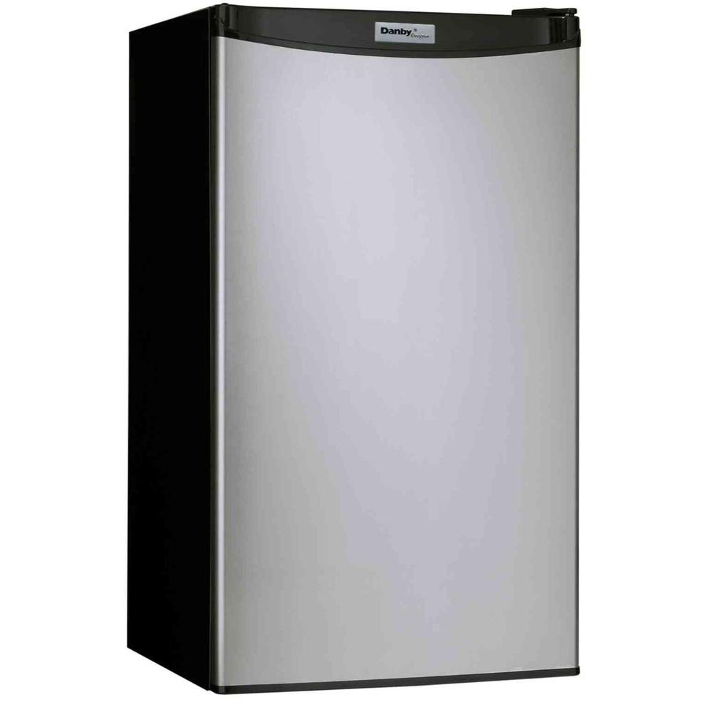 Danby 3.2 cu. ft. Mini Refrigerator in Stainless Look-DISCONTINUED