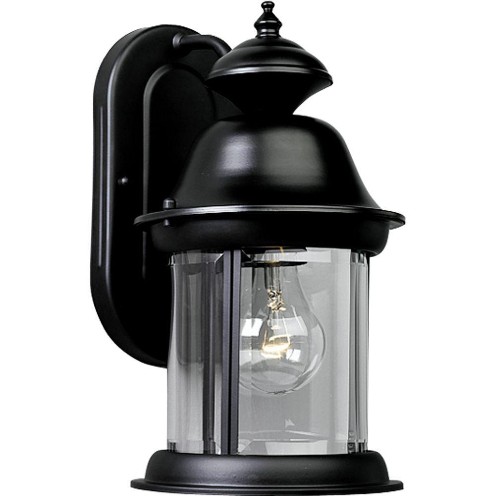 Progress Lighting Carriage Classics Outdoor Textured Black Wall Lantern