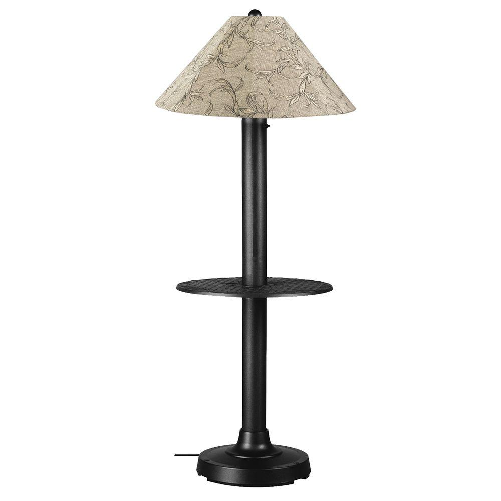 Catalina 63.5 in. Black Floor Lamp with Tray Table and Bessemer