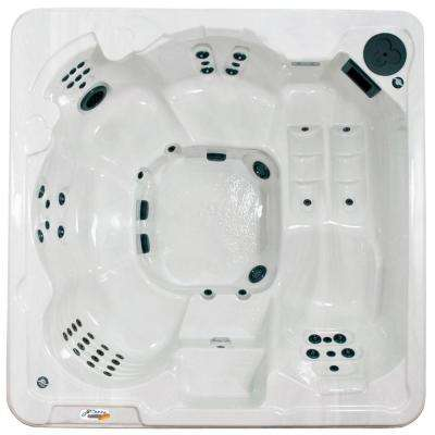 Cantania 6-Person 70-Jet Spa with Bromine System, LED Light, Polar Insulation, Collar Jets and Hard Cover