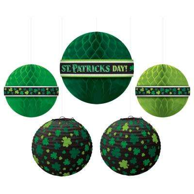 St. Patrick's Day Paper Ball Decoration Assortment (5-Count)