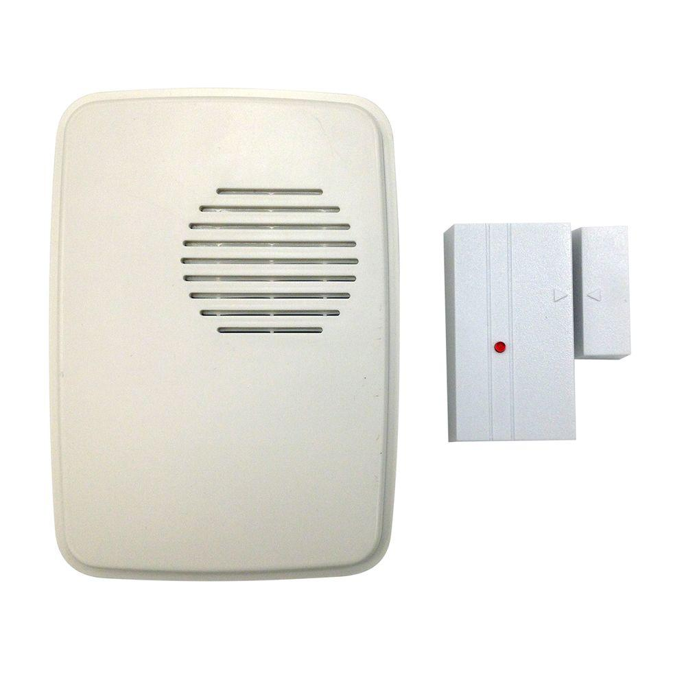 Hampton Bay Wireless Door Alert Kit Hb 7900 02 The Home Depot