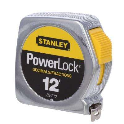 12 ft. x 1/2 in. Powerlock Tape Rule with decimal scale