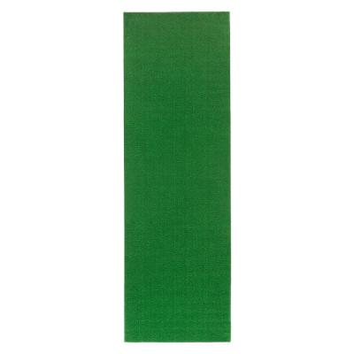 Evergreen Collection Green 3 ft. x 7 ft. 3 in. Artificial Grass Runner Rug