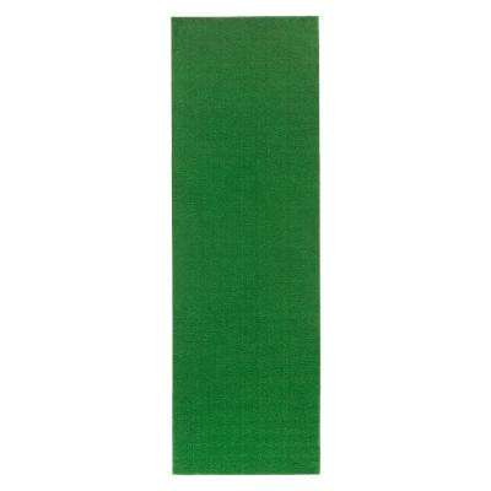 Evergreen Collection Green 3 ft. x 7 ft. 3 in. Artificial Grass Runner Rug