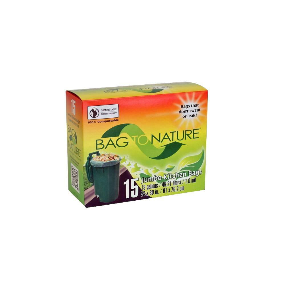Bag To Nature 13 Gal Compole Tall Kitchen 15 Count