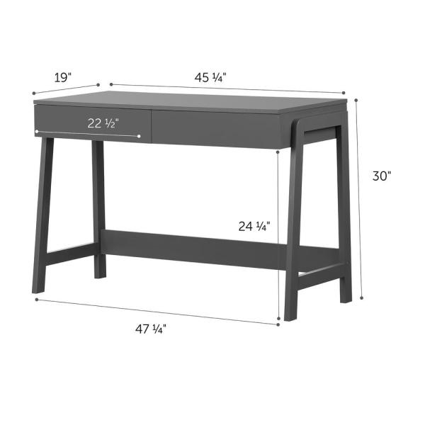 Phenomenal South Shore Liney Charcoal Gray Console Table 12444 The Andrewgaddart Wooden Chair Designs For Living Room Andrewgaddartcom