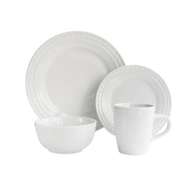 16-Piece White Monique Dinnerware Set