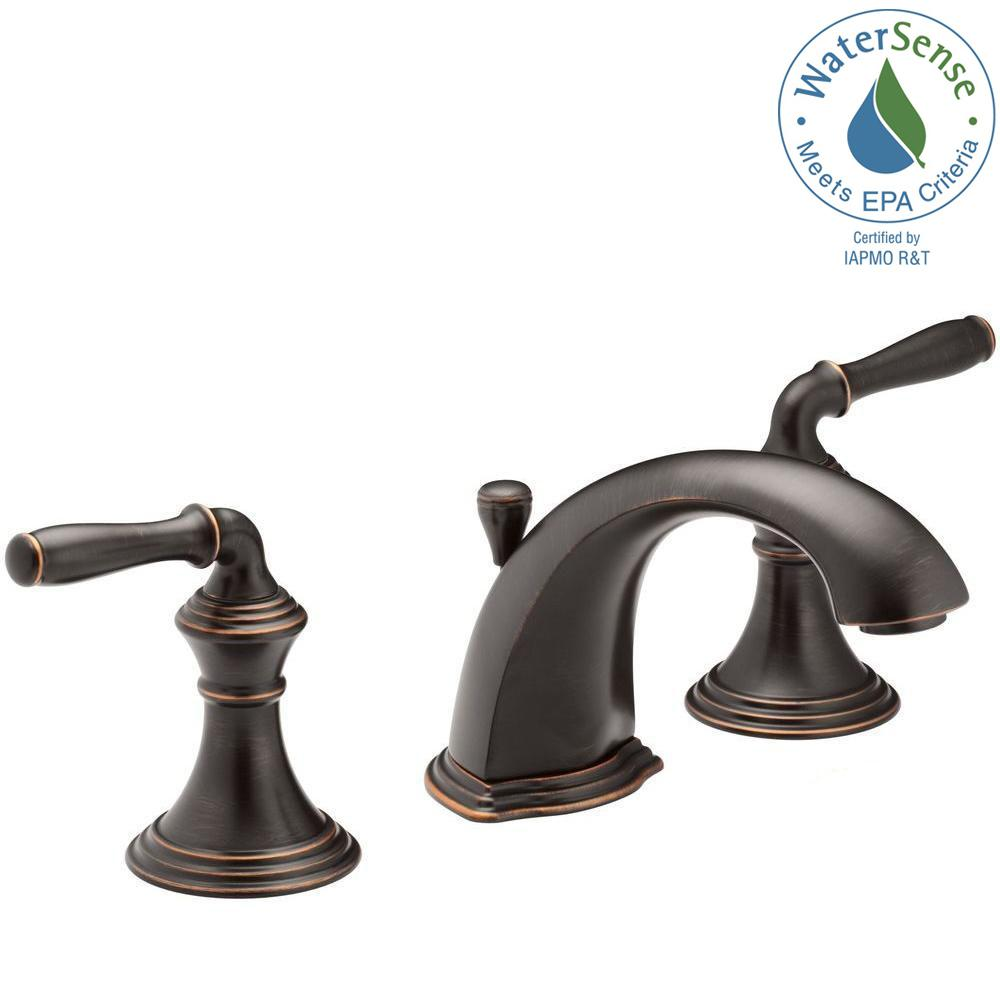 KOHLER Devonshire In Widespread Handle LowArc Bathroom Faucet - Dark bronze bathroom faucets