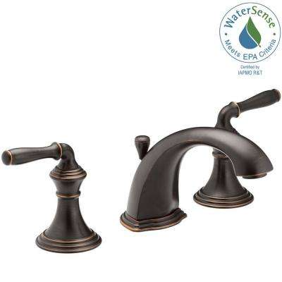 Devonshire 8 in. Widespread 2-Handle Low-Arc Bathroom Faucet in Oil-Rubbed Bronze