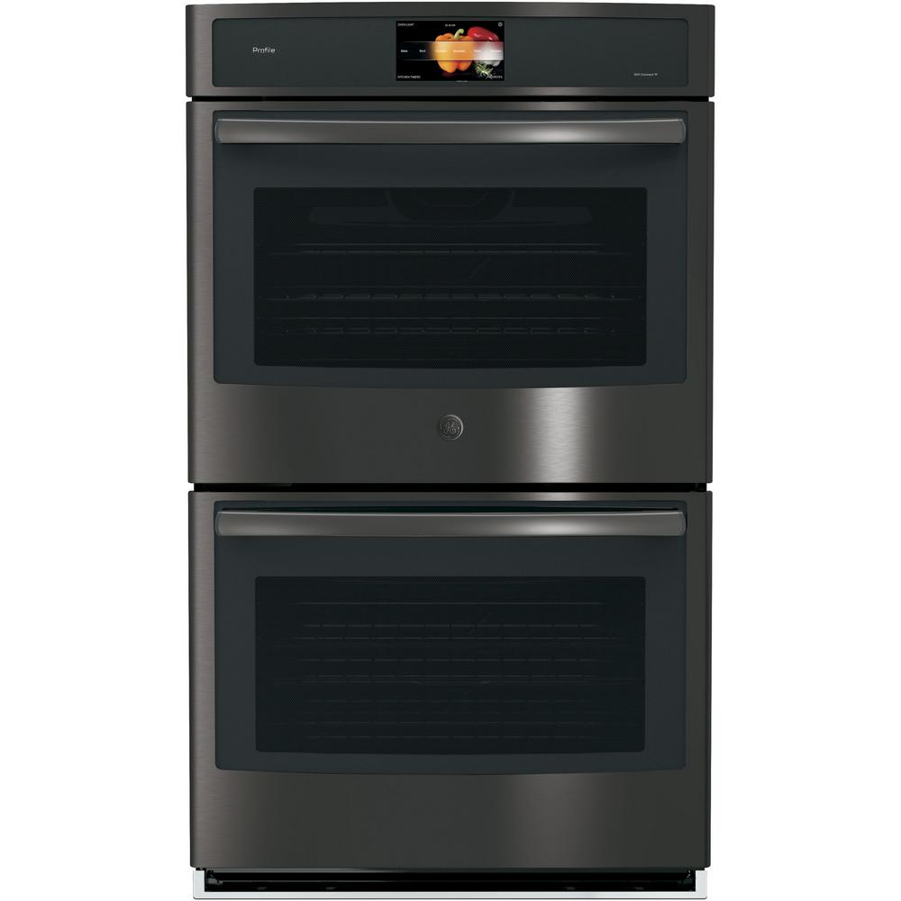 Profile 30 in. Built-In Double Electric Convection Wall Oven in Black