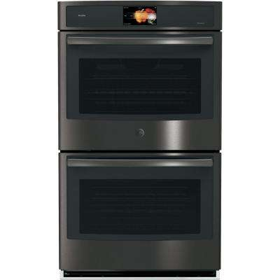Profile 30 in. Built-In Double Electric Convection Wall Oven in Black Stainless Steel, Fingerprint Resistant