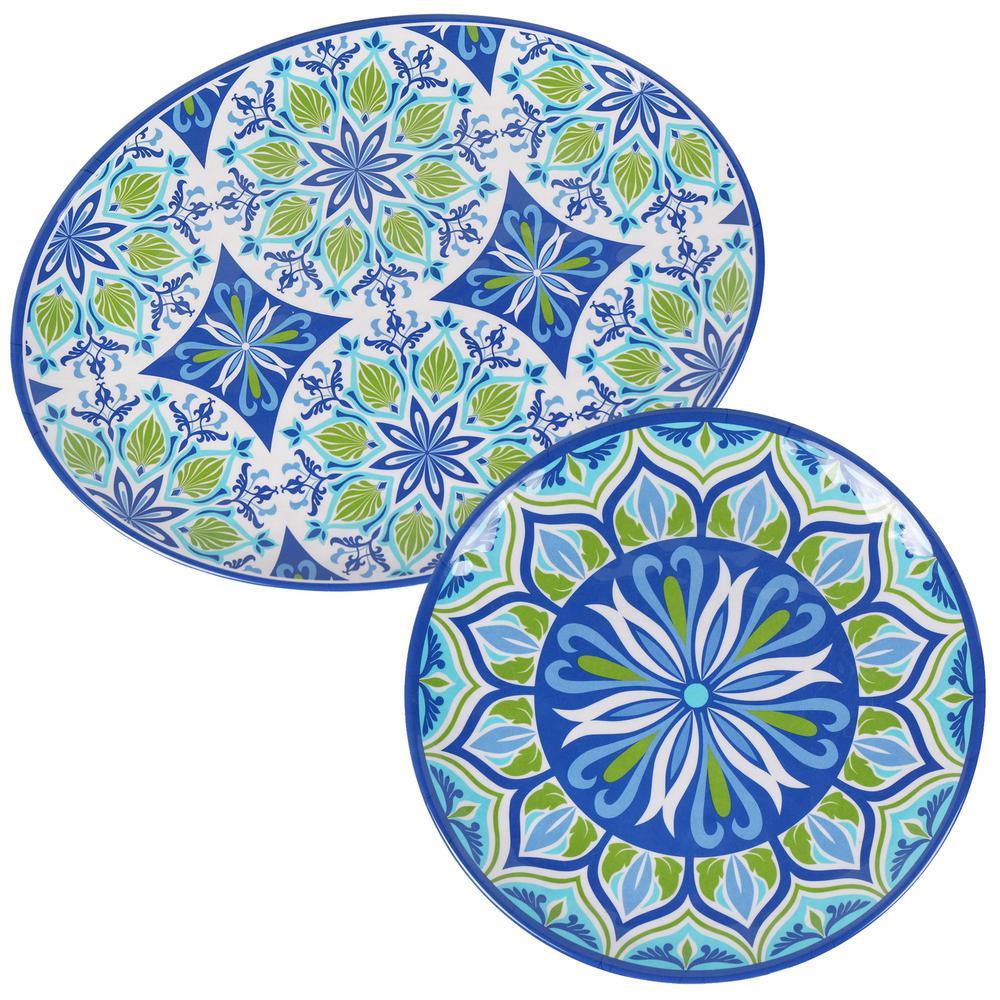 Morocco 2-Piece Melanine Platter Set