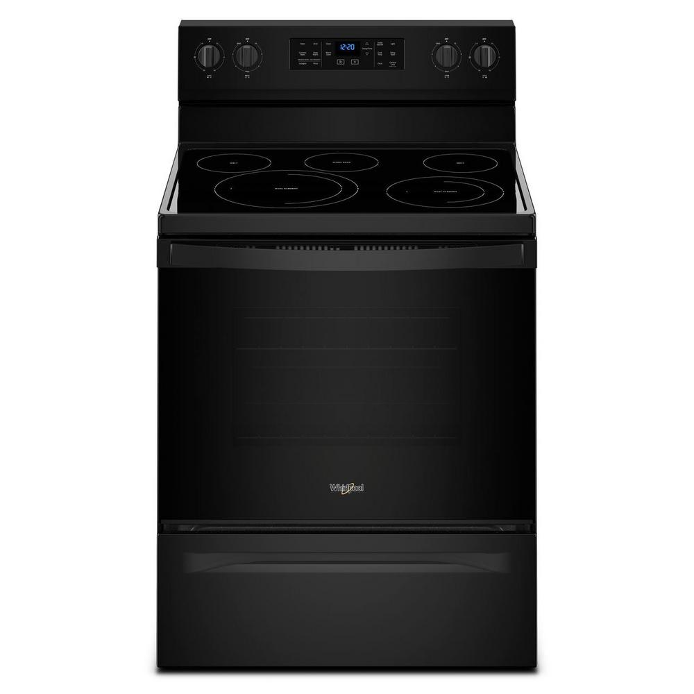 Whirlpool 5.3 cu. ft. Electric Range with Self-Cleaning Convection Oven in Black