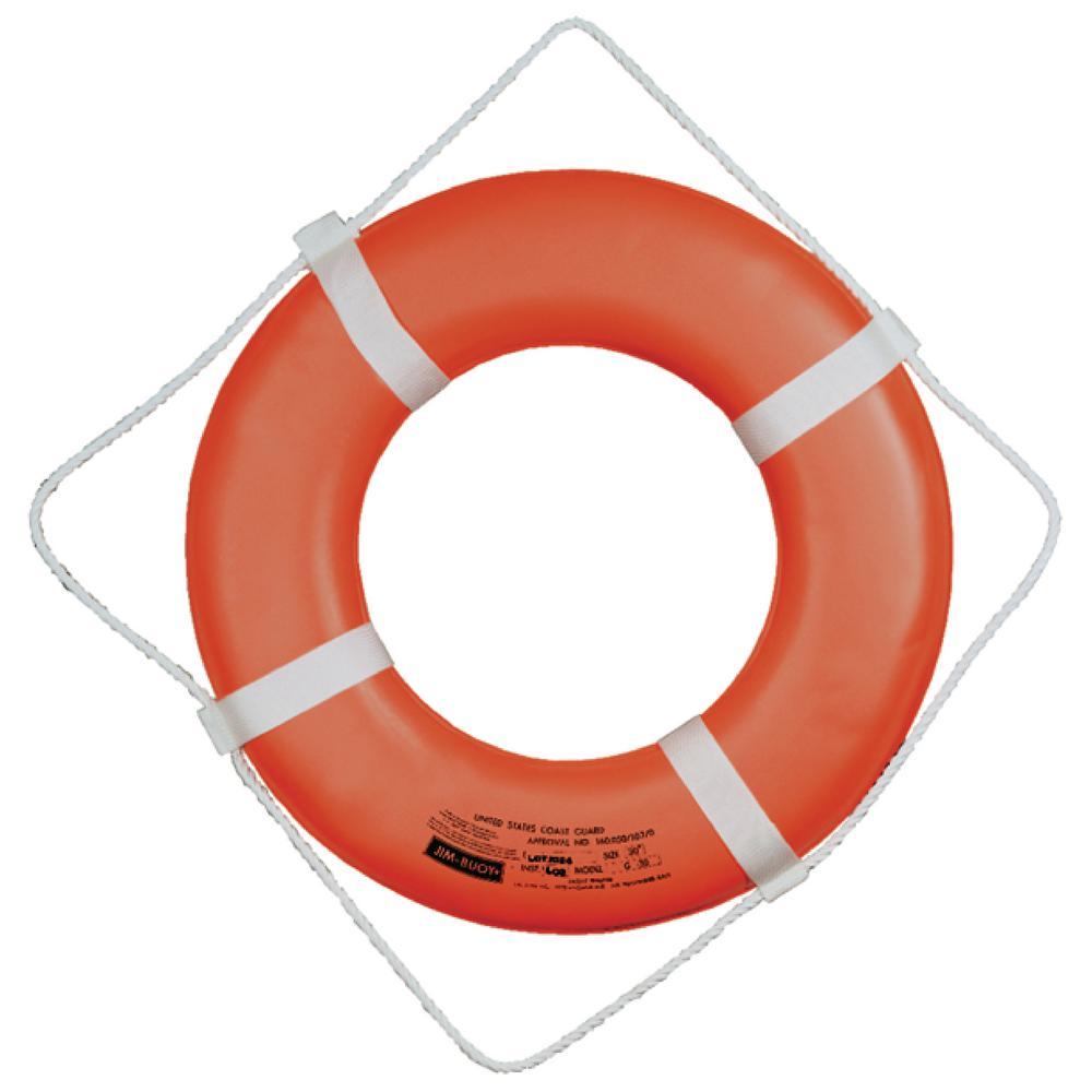 20 in. Jim-Buoy Hard Shell Ring Buoy