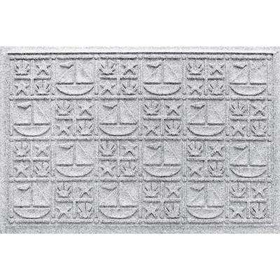White 24 in. x 36 in. Nautical Polypropylene Door Mat