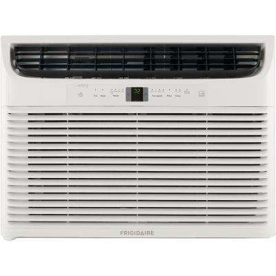 22,000 BTU 230-Volt Window-Mounted Heavy-Duty Air Conditioner with Temperature Sensing Remote Control in White