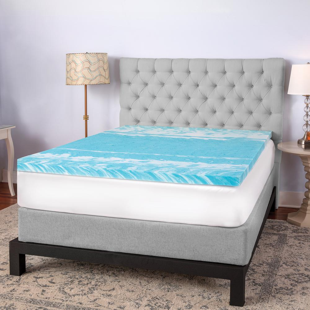 2 in. Gel Swirl California King Memory Foam Topper