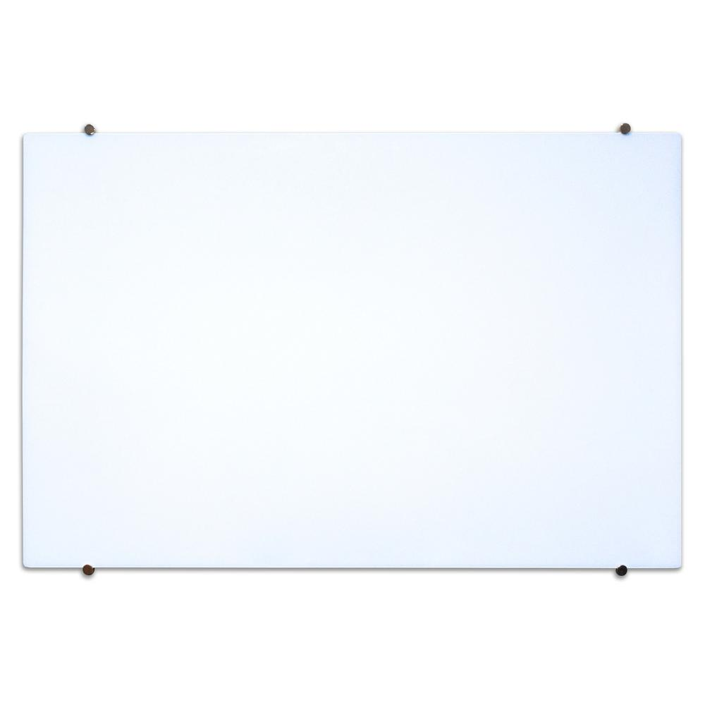 Luxor 60 In X 40 In Magnetic Wall Mounted Glass Board