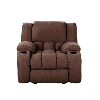 Chocolate Plush Microfiber Recliner